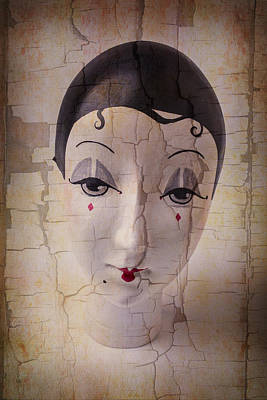 Weathered Doll Face Print by Garry Gay