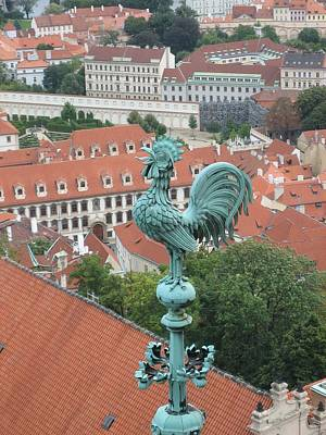 Weathervane Of Prague Print by Kendell Timmers