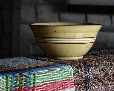 Ceramics Photograph - Weaver's Bowl #1 by Nikolyn McDonald