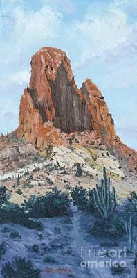 Oil Painting - Weaver's Needle by Jodi Murphy