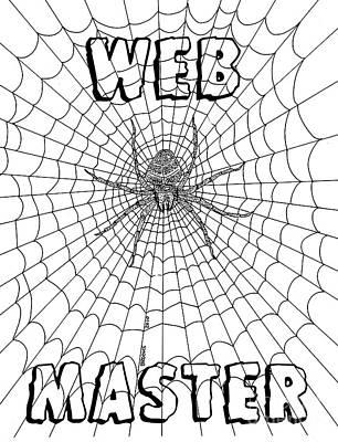 Artist Richard Brooks Drawing - Web Master by Richard Brooks