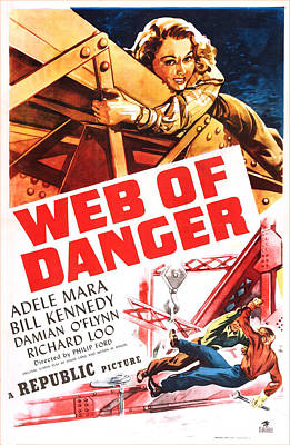 Adele Photograph - Web Of Danger, Us Poster, Adele Mara by Everett