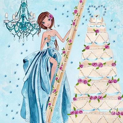 Swan Mixed Media - Wedding Anniversary by Caroline Bonne-Muller