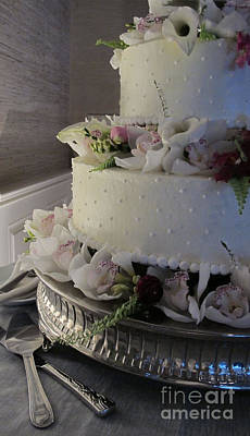 Chocoholic Photograph - Wedding Cake by Arlene Carmel
