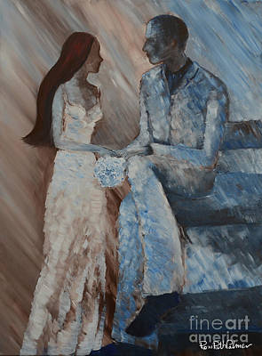 Figurative Painting - Wedding Day by Roni Ruth Palmer