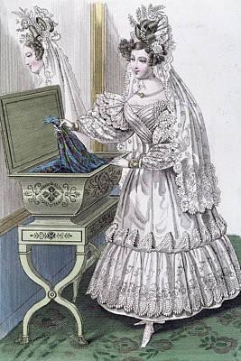 Wedding Dress Drawing - Wedding Dress by French School