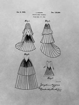 Gown Mixed Media - Wedding Dress Patent by Dan Sproul