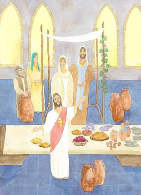 Mary Painting - Wedding Feast At Cana by John Meng-Frecker