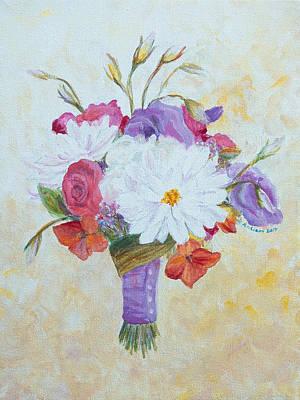 Wedding Bouquet Painting - Wedding Flowers by Arlissa Vaughn