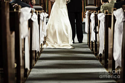Benches Photograph - Wedding In Church by Elena Elisseeva