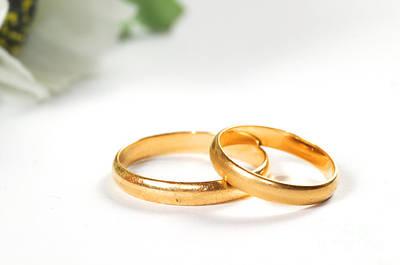 Ring Photograph - Wedding Rings by Michal Bednarek