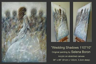 Large Painting - Wedding Shadows 110710 by Selena Boron