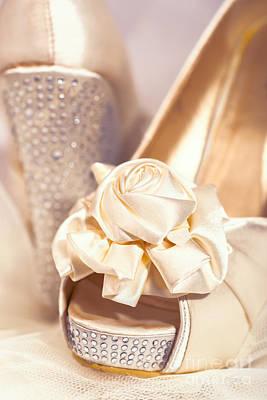 Wedding Shoes Print by Amanda Elwell