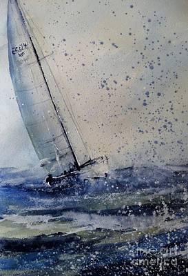 Michigan State Painting - Wednesday Evening Sail by Sandra Strohschein
