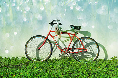 Bicycling Mixed Media - Weekender Special by Laura Fasulo