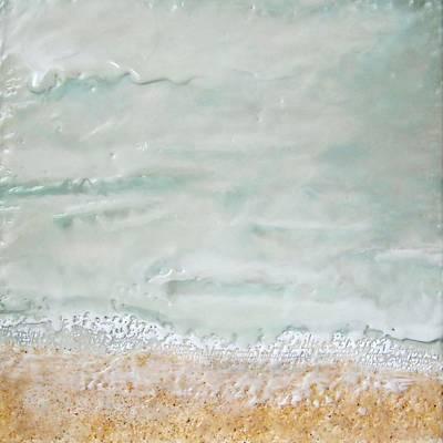 Encaustic Painting - Weeping Tide No. 1 by Victoria Primicias