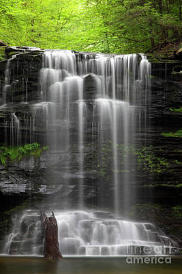 Weeping Wilderness Waterfall Print by John Stephens
