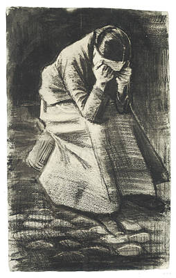 Weeping Drawing - Weeping Woman by Vincent van Gogh
