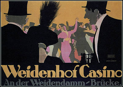 Affiche Mixed Media - Weidenhof Casino by Charlie Ross
