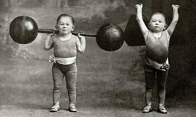 Weightlifting Dwarfism Exhibits Print by American Philosophical Society