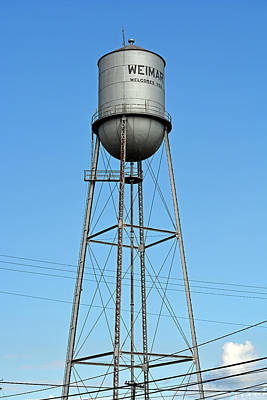Weimar Texas Water Tower Print by Connie Fox