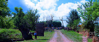 Amish Community Photograph - Welcome And Enjoy by Tina M Wenger