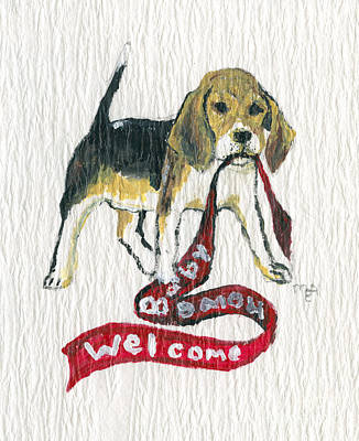 Welcome Home Baby Original by MEA Fine Art