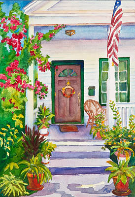 Wicker Chair Painting - Welcome Home by Michelle Wiarda