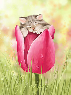 Pet Portraits Digital Art - Welcome Spring by Veronica Minozzi