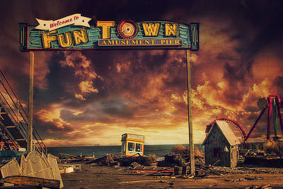 Hurricane Sandy Photograph - Welcome To Fun Town by Kim Zier
