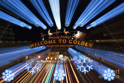 Colorado Christmas Photograph - Welcome To Golden by Juli Scalzi