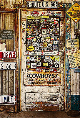 Welcome To Hackberry General Store Print by Priscilla Burgers