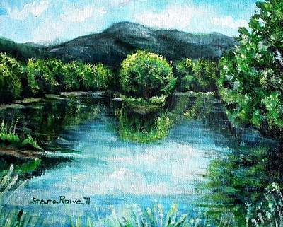 Forestry Painting - Welcome To Maine  by Shana Rowe Jackson