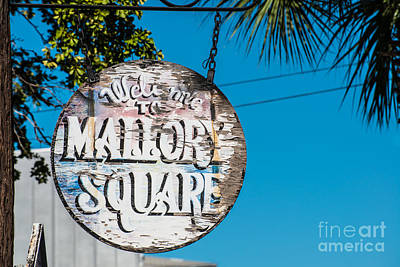 Welcome To Mallory Square Key West 2 Print by Ian Monk