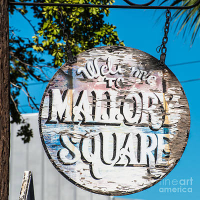 Welcome To Mallory Square Key West 2  - Square Print by Ian Monk