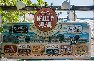 Welcome To Mallory Square Key West Print by Ian Monk
