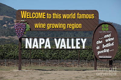 Napa Valley And Vineyards Photograph - Welcome To Napa Valley California 5d29493 by Wingsdomain Art and Photography
