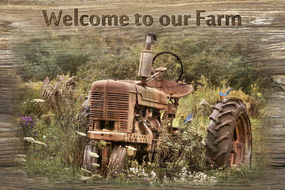 Bluebird Digital Art - Welcome To Our Farm by Lori Deiter