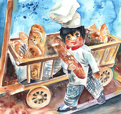 Bakery Drawing - Welcome To The Czech Republic 03 by Miki De Goodaboom