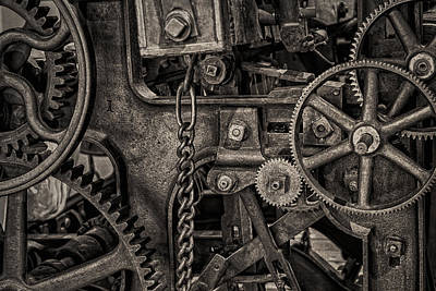 Machinery Photograph - Welcome To The Machine by Erik Brede