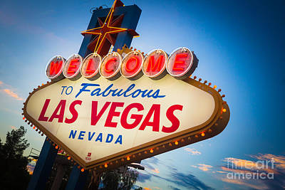 Welcome To Vegas Print by Inge Johnsson