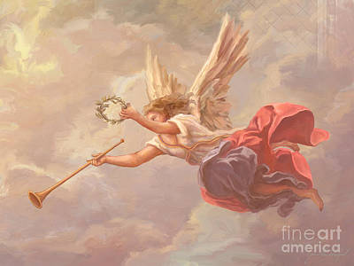 Wreath Painting - Welcoming Angel by John Alan  Warford