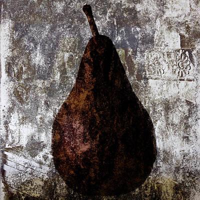 Well-read Pear Print by Carol Leigh