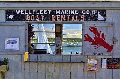 Wellfleet Harbor Thru The Window Print by Allen Beatty