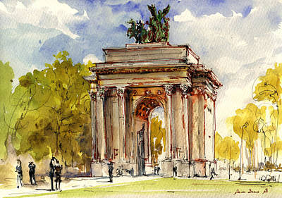 Wellington Arch Print by Juan  Bosco