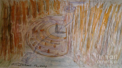 Painting - Wells Anxiety With A Watch by Mourad HARKAT