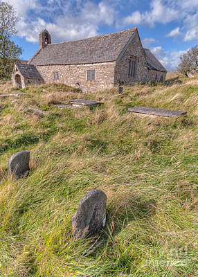Welsh Tombs Print by Adrian Evans