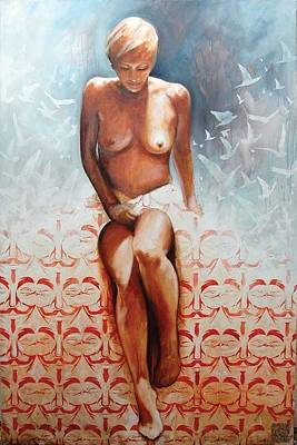 Ts Painting - Weltsmertz by Eugen Varzic