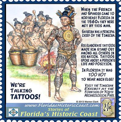 We're Talking Tattoos Print by Warren Clark