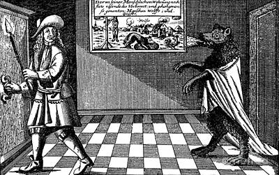 Folkloric Photograph - Werewolf Of Ansbach, 1685 by Photo Researchers